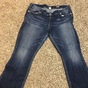 """Silver """"Suki"""" Bootcut Jeans"""